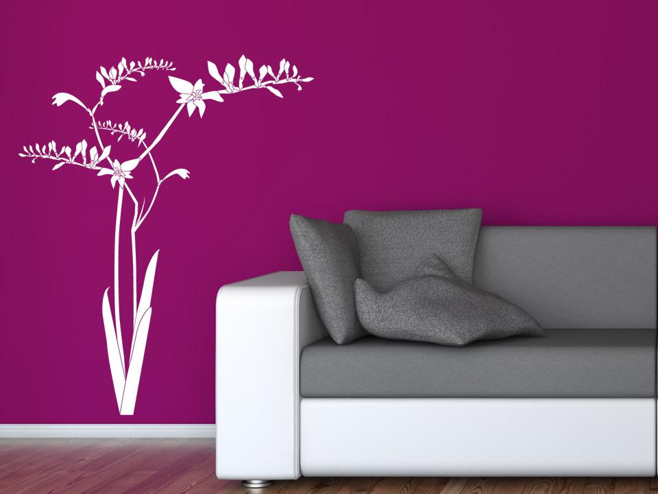 wandtattoo schwertlilie mit bl ten. Black Bedroom Furniture Sets. Home Design Ideas