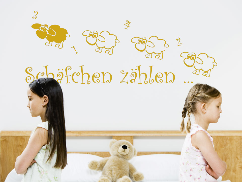 pin wandtattoo kinderzimmer schafe z hlen. Black Bedroom Furniture Sets. Home Design Ideas