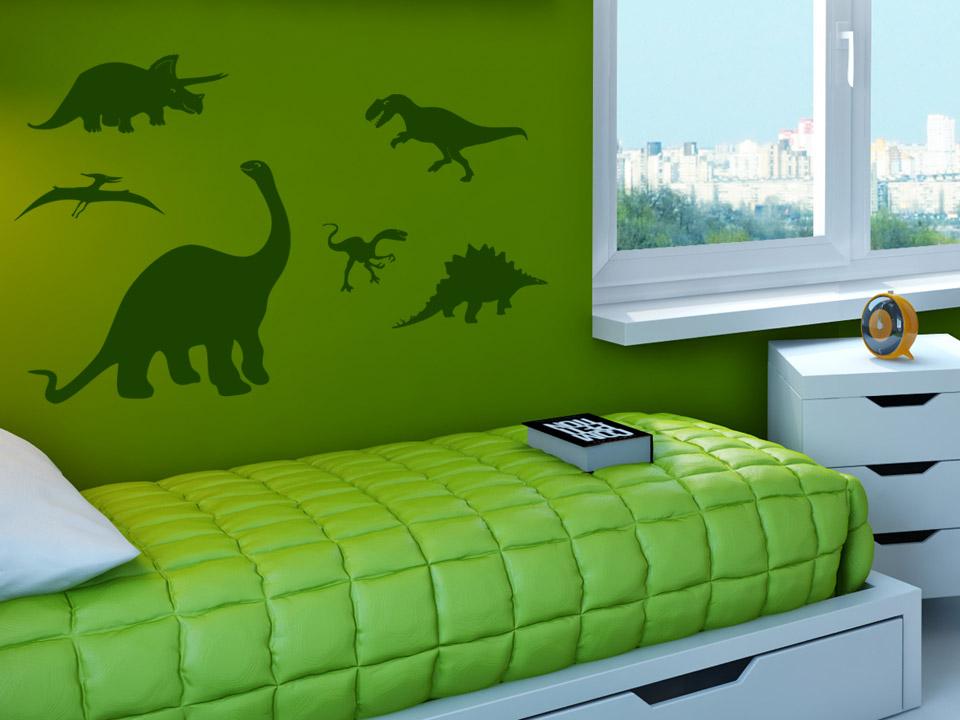 Wandtattoo Dinosaurier 6er Set T Rex & Co