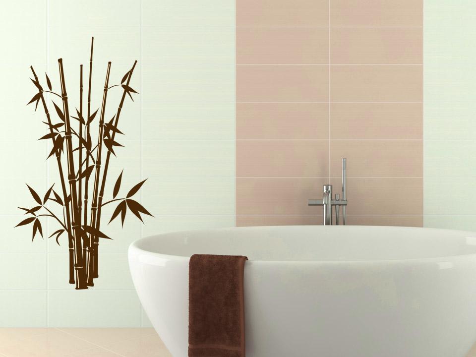 Wandtattoo bambus busch mit asia flair - Bambus badezimmer ...