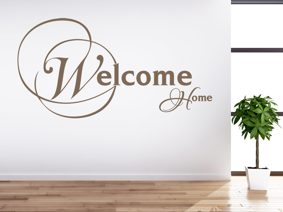 Welcome home wandtattoo in stilvollem design - Wandtattoo fur flur ...