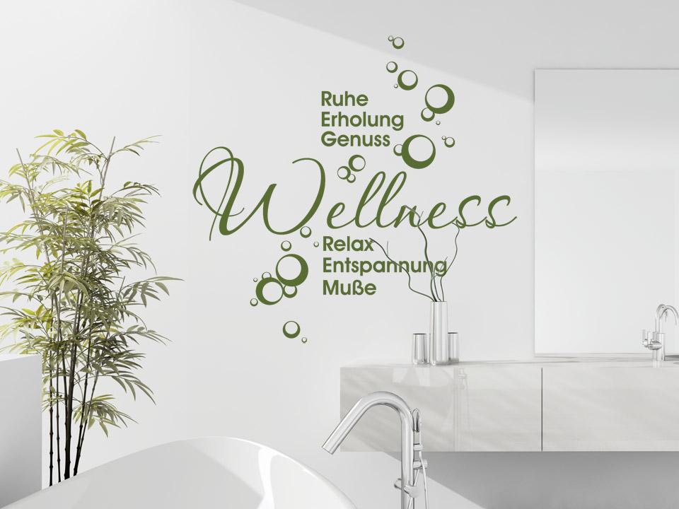 Wandtattoo Wellness Fürs Badezimmer Wandtattoocom - Wandtattoos fürs badezimmer
