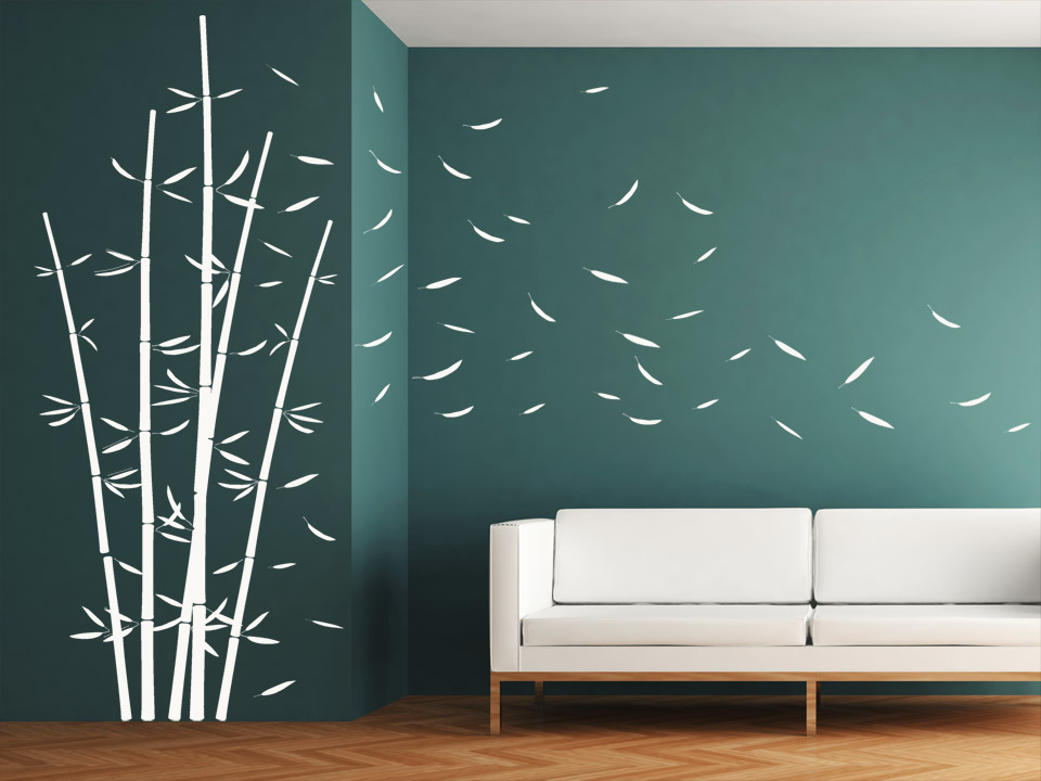 wandtattoo dekorativer bambus im wind. Black Bedroom Furniture Sets. Home Design Ideas