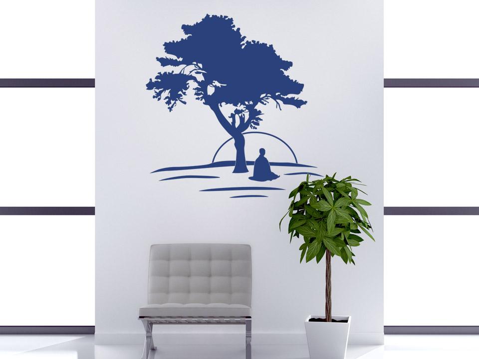 wandtattoo meditieren m nche im sonnenaufgang. Black Bedroom Furniture Sets. Home Design Ideas