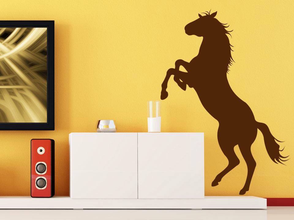 wandtattoo stylisches pferd steht auf hinterbeinen. Black Bedroom Furniture Sets. Home Design Ideas