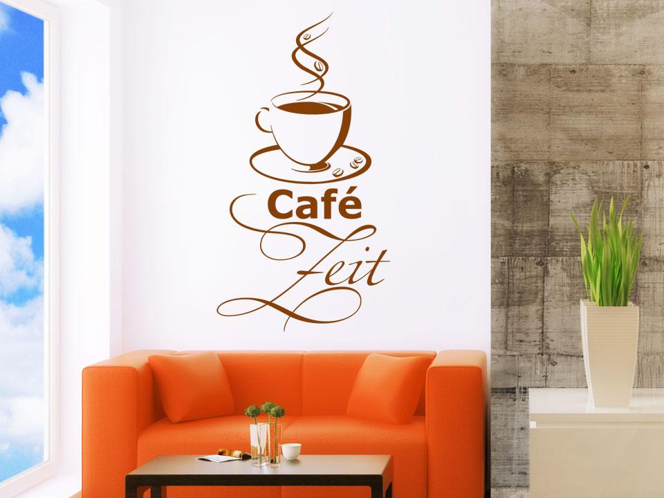 wandtattoo caf zeit kaffeetasse mit dampf. Black Bedroom Furniture Sets. Home Design Ideas