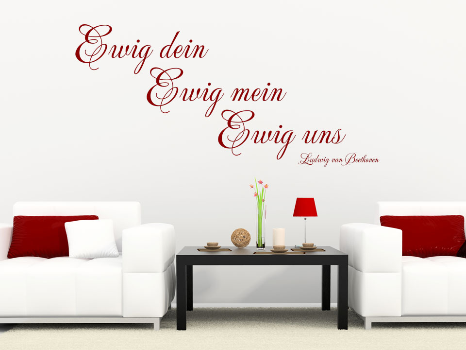 wandtattoo ewig dein ewig mein ewig uns. Black Bedroom Furniture Sets. Home Design Ideas