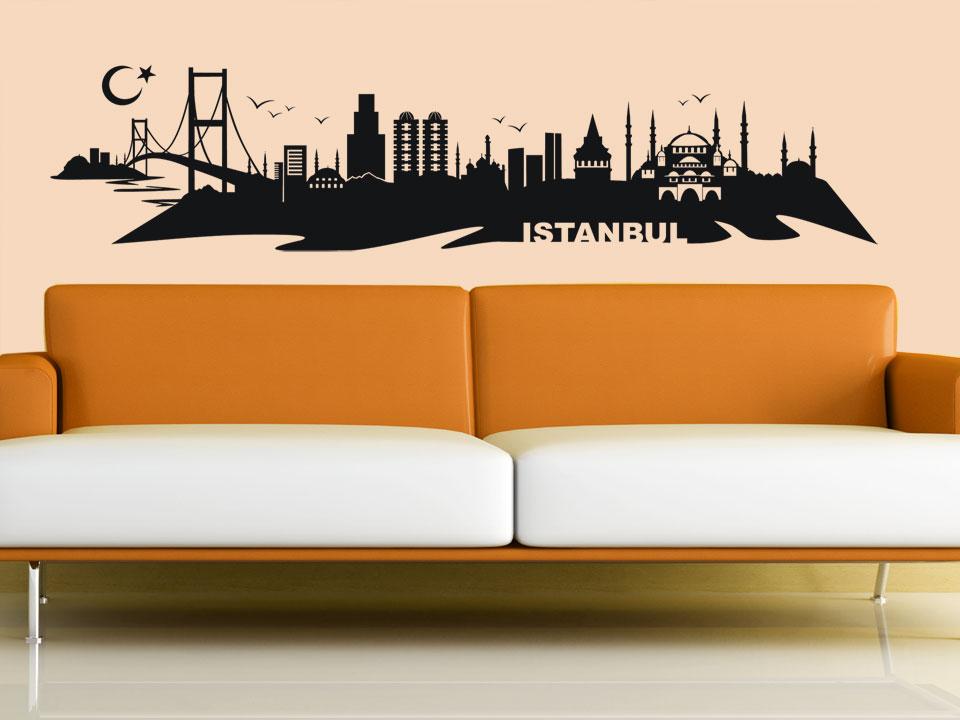 wandtattoo istanbul skyline mit hagia sofia