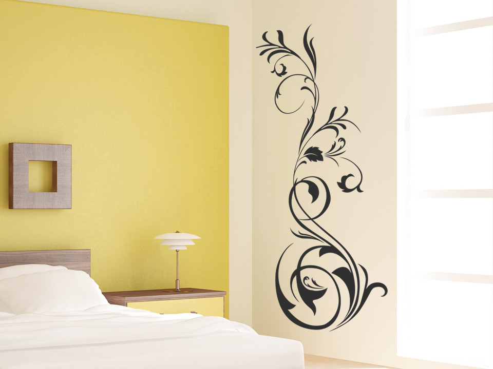 wandtattoo kunstvolles ornament mit schn rkel. Black Bedroom Furniture Sets. Home Design Ideas