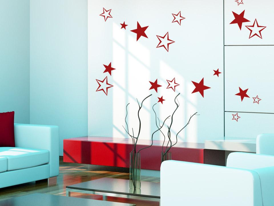 wandtattoo sternenschwarm sterne deko. Black Bedroom Furniture Sets. Home Design Ideas