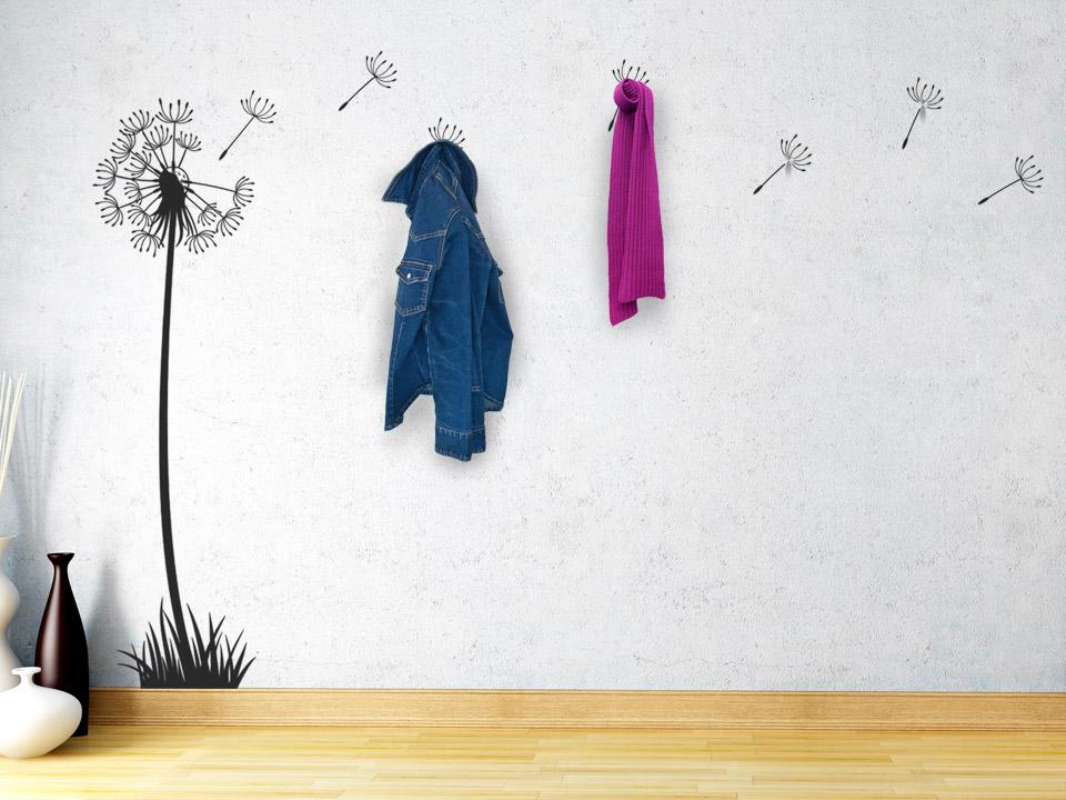 wandtattoo garderobe mit haken reuniecollegenoetsele. Black Bedroom Furniture Sets. Home Design Ideas