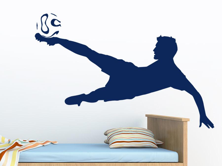 Fußball Torhüter Wandtattoo In Farbe