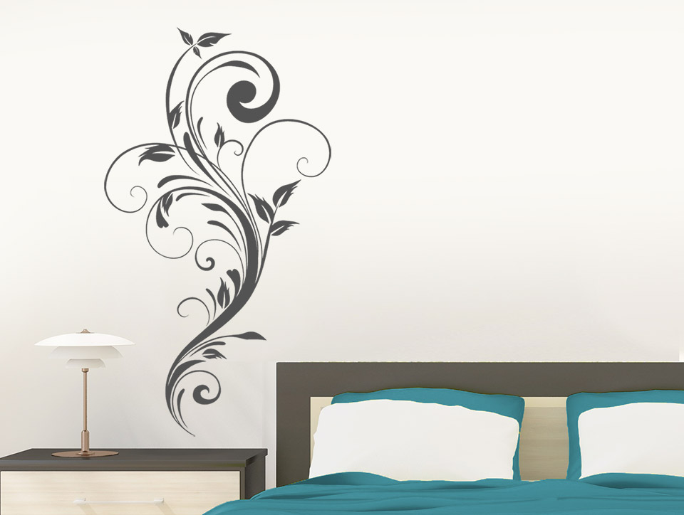 wandtattoo florale ranke. Black Bedroom Furniture Sets. Home Design Ideas