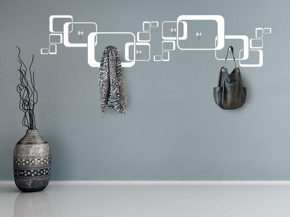 Wandtattoo garderobe moderne rechtecke for Garderobe idee