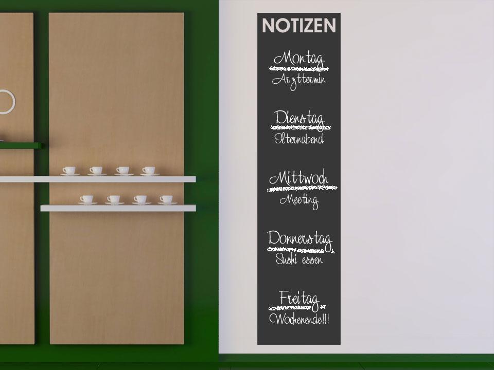 Kühlschrank Wochenplaner : Tafelfolie notizen für kühlschrank co wandtattoo