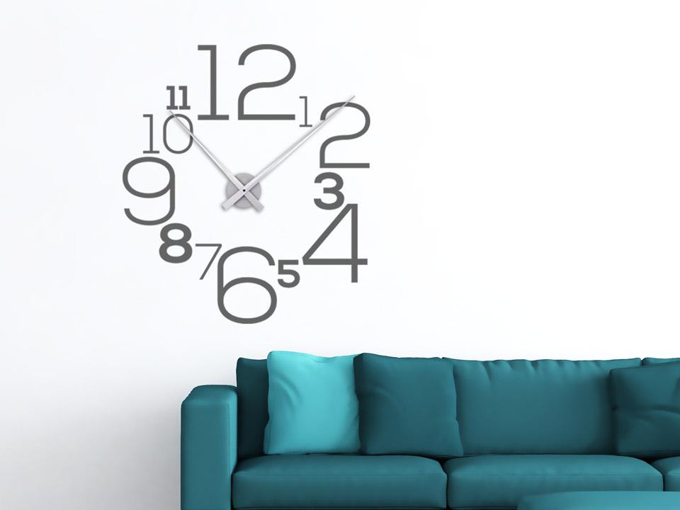 wandtattoo uhr kreative zahlen. Black Bedroom Furniture Sets. Home Design Ideas