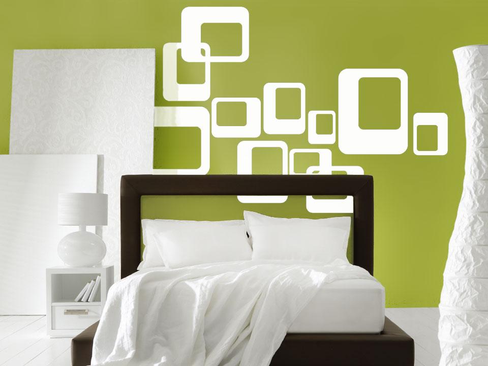 wandtattoo retro wanddekor cubes bei. Black Bedroom Furniture Sets. Home Design Ideas