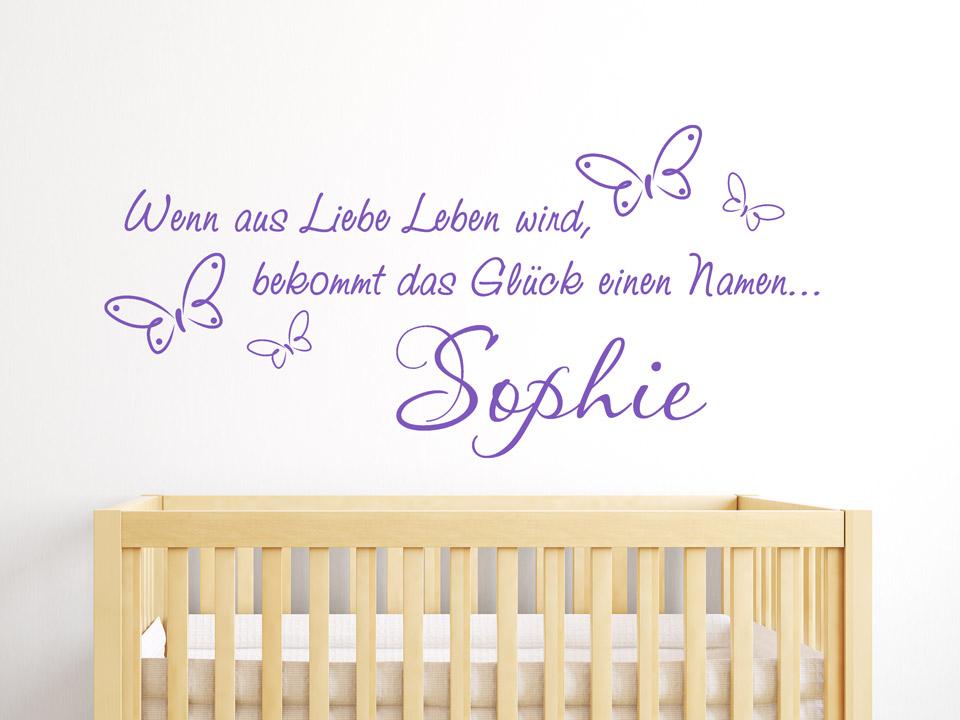 süße wandtattoos fürs babyzimmer | wandtattoo
