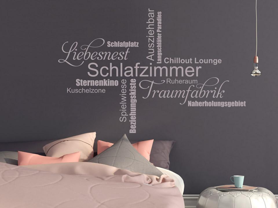 wandtattoo schlafzimmer worte fürs liebesnest | wandtattoo.com - Wandtattoo Schlafzimmer