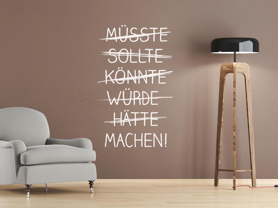Wunderbar Wandtattoo Würde Hätte Machen Auf Einer Braunen Wand. Wandtattoo Würde  Hätte Machen Auf Einer Braunen.