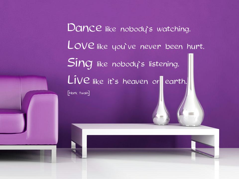 dance sprüche englisch