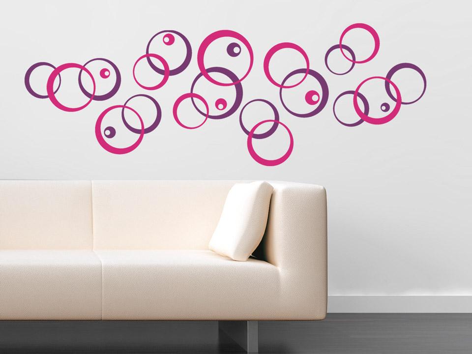 wandtattoo bunte kreise. Black Bedroom Furniture Sets. Home Design Ideas