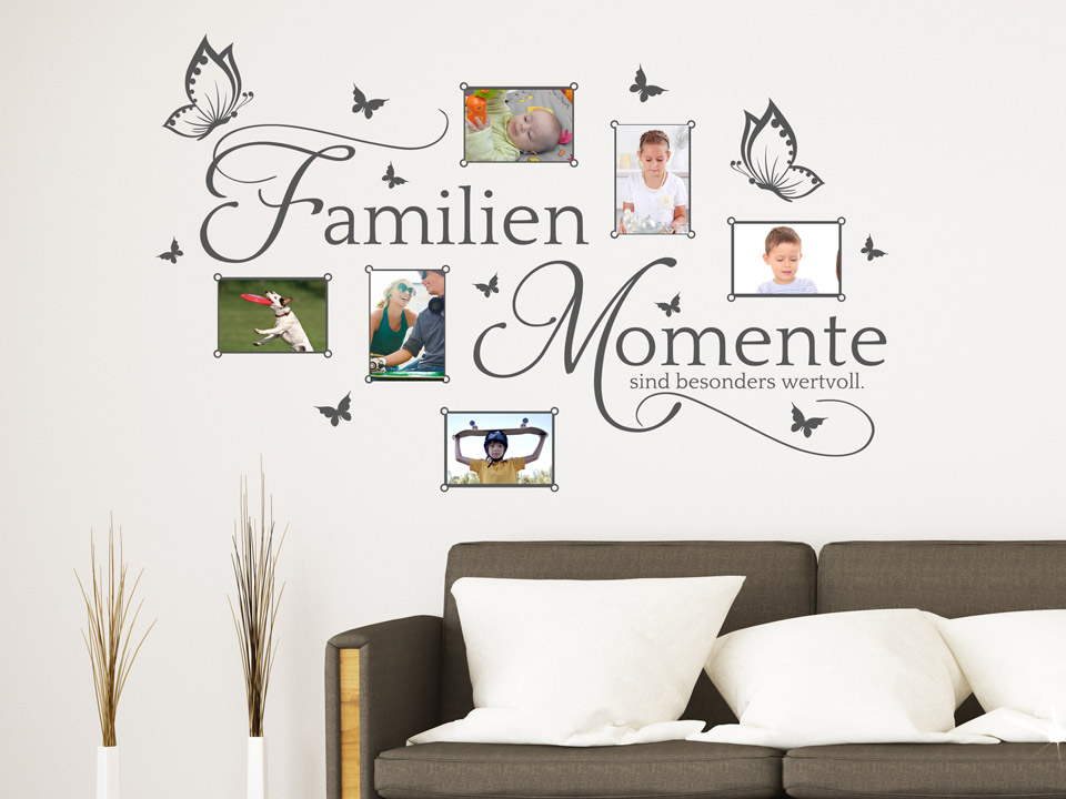 wandtattoo fotorahmen familien momente sind besonders wertvoll. Black Bedroom Furniture Sets. Home Design Ideas