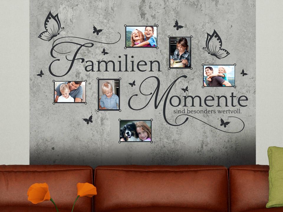Wandtattoo Fotorahmen Familien Momente sind besonders wertvoll