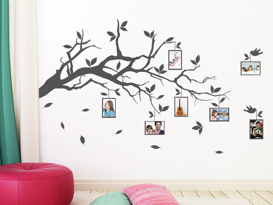 wandtattoo baum mit bilderrahmen reuniecollegenoetsele. Black Bedroom Furniture Sets. Home Design Ideas