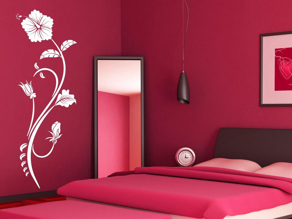 hawaiiblume wandtattoo hibiskus bl te. Black Bedroom Furniture Sets. Home Design Ideas