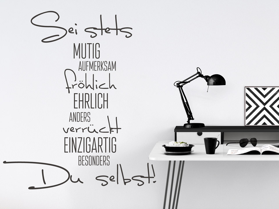 T/üraufkleber Werkstatt Arbeitszimmer Spruch Sticker Tattoo Aufkleber 3D810 Farbe:Azurblau glanz;Breite vom Motiv:25cm