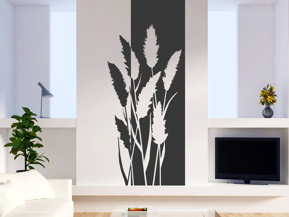 wandbanner schilf. Black Bedroom Furniture Sets. Home Design Ideas