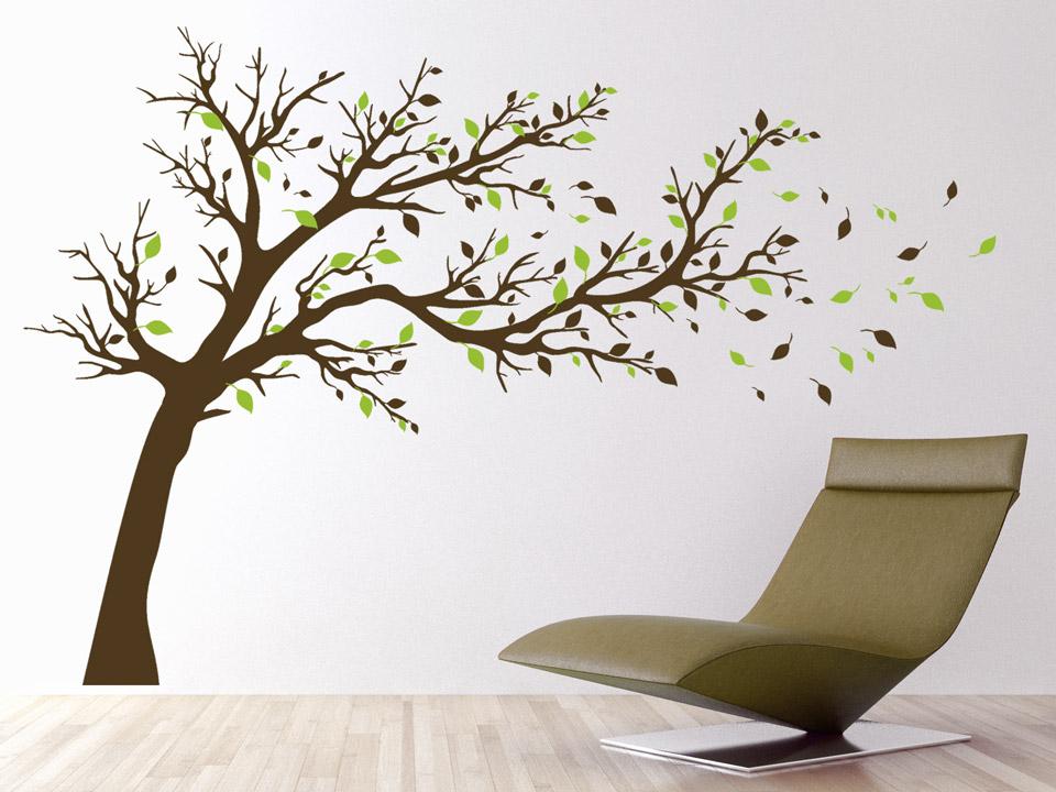 wandtattoo breiter baum ber sofa oder bett. Black Bedroom Furniture Sets. Home Design Ideas