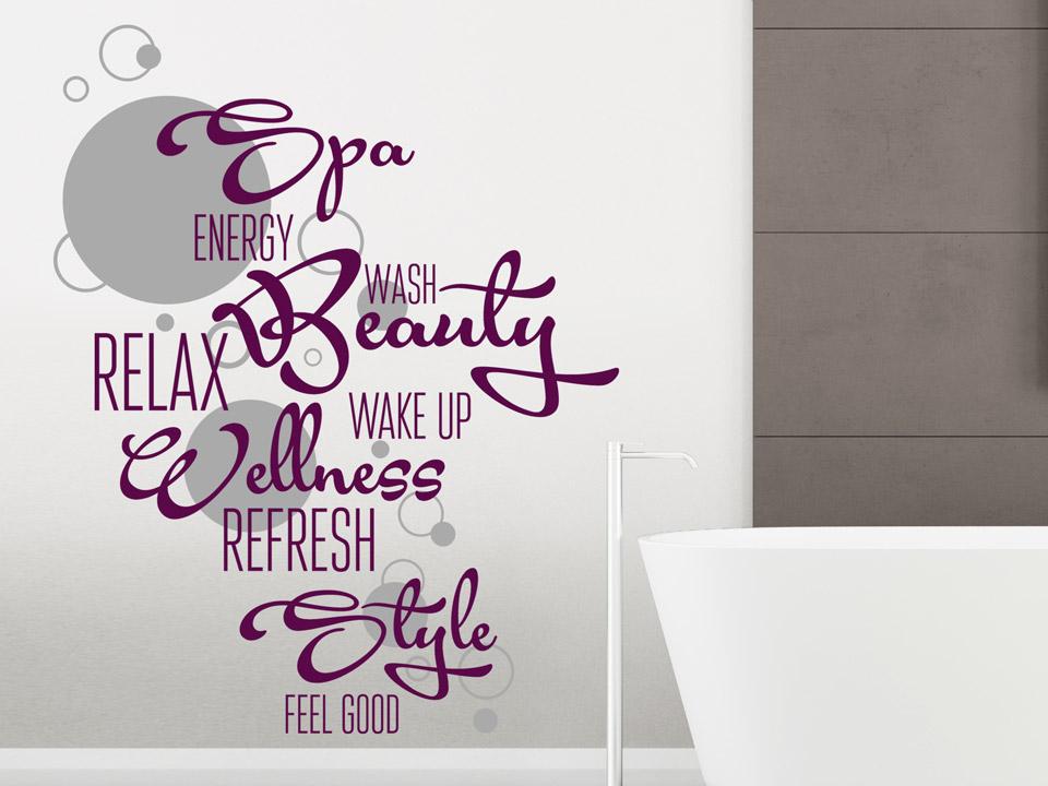Wandtattoo wellness beauty relax - Wandtattoo relax ...