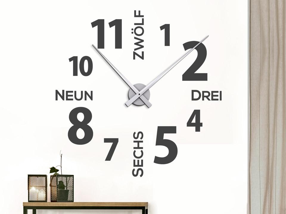 Wandtattoo designer wanduhr - Ausgefallene wanduhren ...