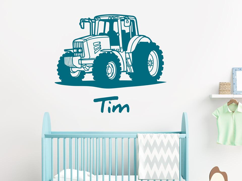Wandtattoo traktor mit namen reuniecollegenoetsele for Traktor wandtattoo