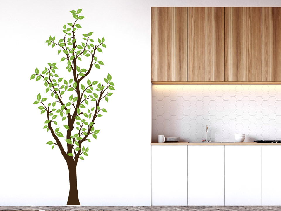 wandtatoo hoher baum bis 2 40 cm. Black Bedroom Furniture Sets. Home Design Ideas