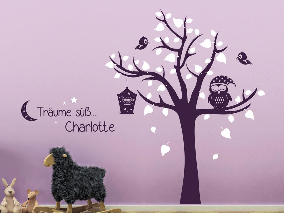 Wandtattoo Baum Träume Süß... Mit Name