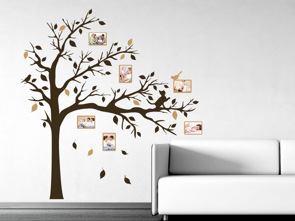 Wandtattoo fotobaum mit breiter krone - Wandtattoo anbringen ...