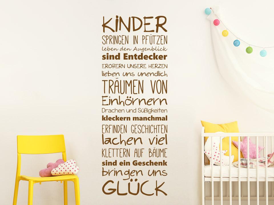 Wandtattoo Kinder bringen uns Glück | Wandtattoo.com