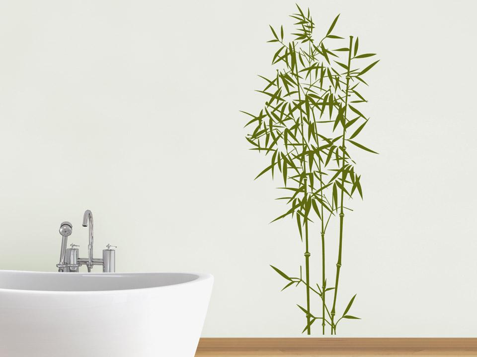 Wandtattoo Feiner Bambus Im Badezimmer