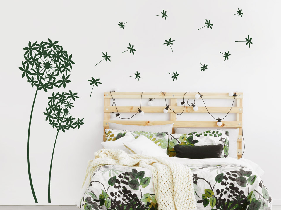 wandtattoo geschmackvolle pusteblumen. Black Bedroom Furniture Sets. Home Design Ideas