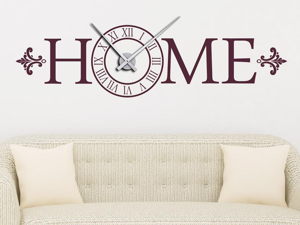 Wandtattoo Uhr Mit Schrift Home Wandtattoo Com
