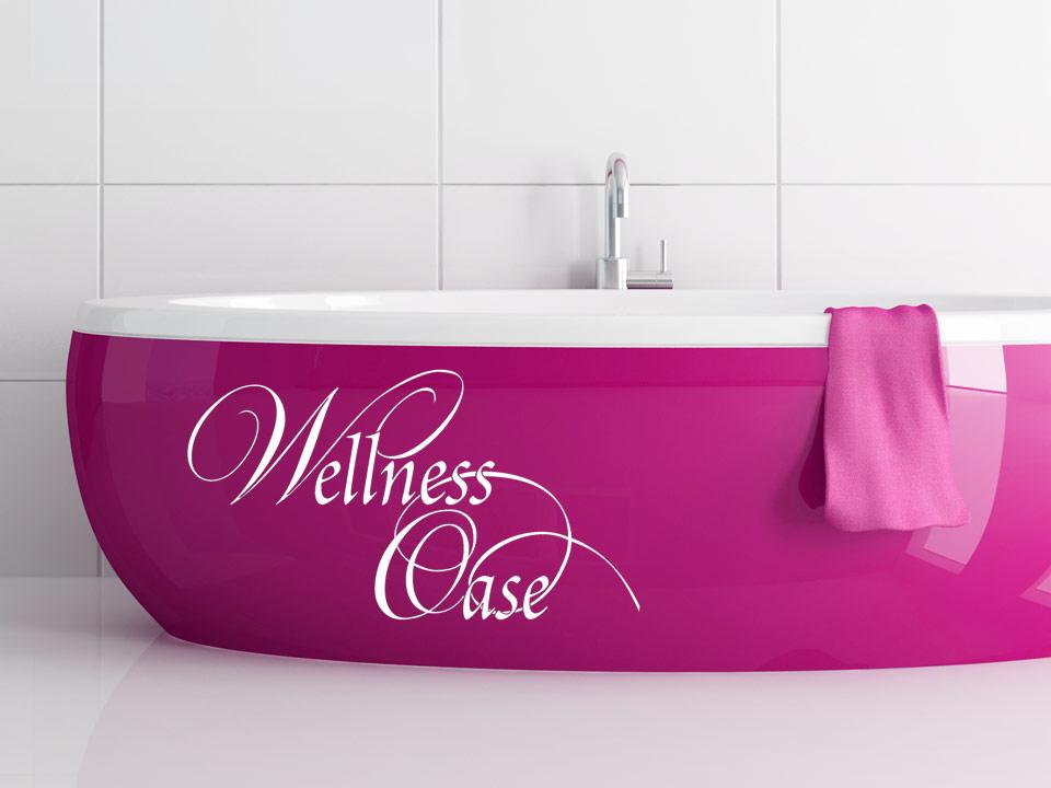 Wandtattoo Wellnessoase fürs Badezimmer | Wandtattoo.com