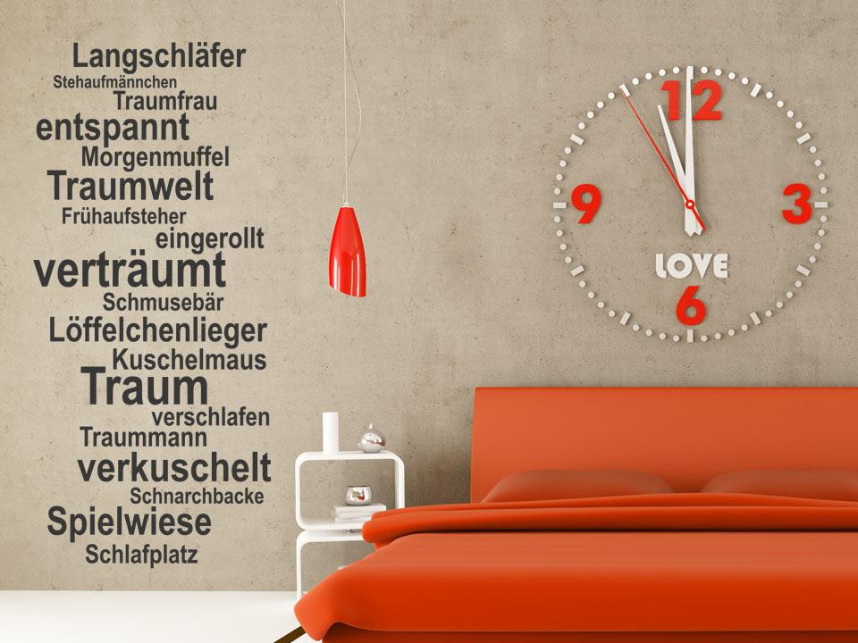 Wandtattoo Traum Worte fürs Schlafzimmer | Wandtattoo.com