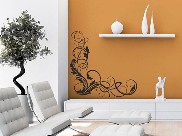 Wandtattoo dekorative schn rkel - Dekorative wande ...