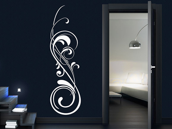 wandtattoo edles ornament mit schn rkel. Black Bedroom Furniture Sets. Home Design Ideas