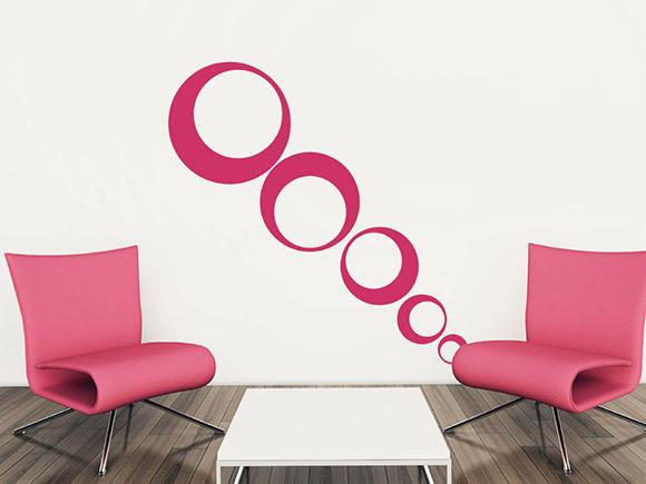 wandtattoo dekorative kreise. Black Bedroom Furniture Sets. Home Design Ideas