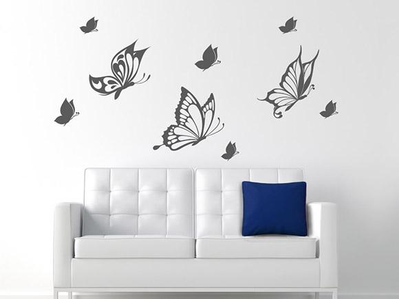 wandtattoo bezaubernde schmetterlinge. Black Bedroom Furniture Sets. Home Design Ideas