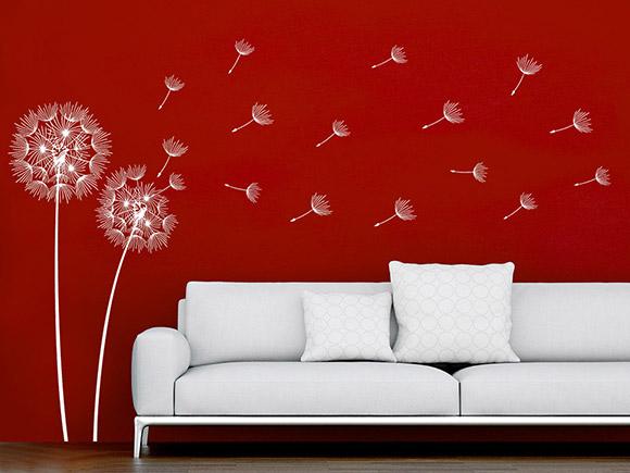 wandtattoo filigrane pusteblumen. Black Bedroom Furniture Sets. Home Design Ideas